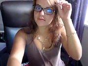 I shagged my small dildo on webcam