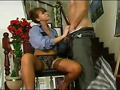 Oriental temptress Beverly in panties and stockings