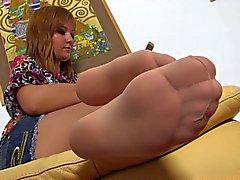 Nice Woman Nice Nylonfeet 17