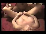 Hardcore interracial slut sucks and fucks big black cock