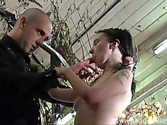 Bizarre humiliation and strict whipping of amateur slavegirl Fae Corbin