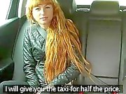 Liza masturbates and gets fucked in taxi