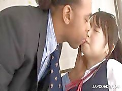 Asian schoolgirl gets twat rubbed