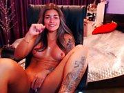 tan latina cam girl teasing n masturbatin live pt2
