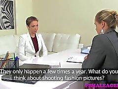 FemaleAgent - Sexy lesbian loves a MILF agent
