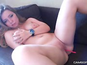 Cute Shaved Masturbates With Toys And Squirts