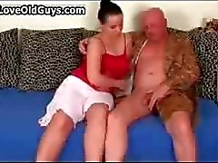 Old man gets his hard cock sucked hard