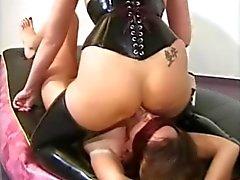 lesbian domme facesitting girl
