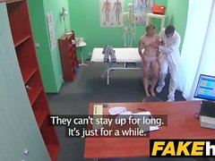Fake Hospital Doctor brings feeling back to pussy with hard fucking