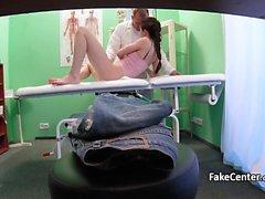 Horny doctor fucks hot patient in hospital