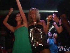 Kinky sluts get naughty at the club