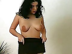 Big nipples Dee showing off her pussy