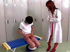 Jap doctor cock jerking