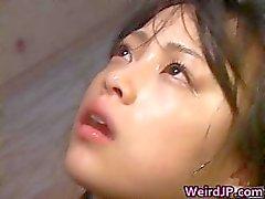 Super hot Japanese babes doing weird sex part3