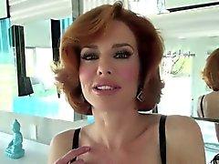 Sexy Veronica flashes boobs to seduce