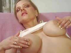 BustyBlonde InStockings GetsFck andSquirt