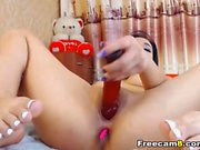 Asian anal masturbation