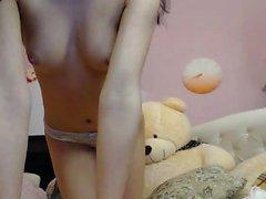 Hot Teen Brunette Dildoing On Webcam Part 1