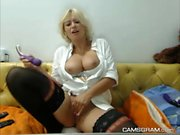 Sexy Webcam show with a hot MILF babe and her toys