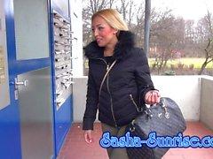Sasha-Sunrise - Mein 1. Sandwich - MMF anal german teen