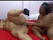 Cum starving fat ebony lesbian sluts