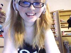 Kasey amateur teen poses on webcam in panties