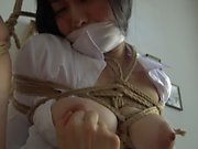 Kinbaku bondage - Me suffering in rope and shared an intense moment
