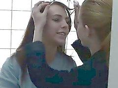 Mormon lesbians lick pussy in bath on spy cam