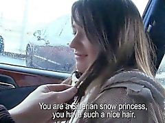 Beautiful amateur Czech girl fucked and facialed for money