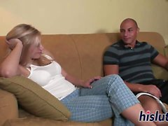 Young blonde filly has her beaver slammed