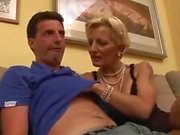 Blonde Mature Comforts Him With Anal