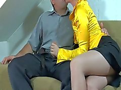 Horny bitch gets drilled after sucking some cock