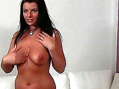Bubbly euro babe Jen enjoys porn tryout