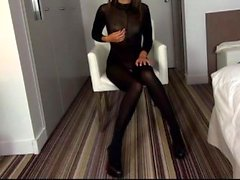 Gorgeous mom goddess in solo fingering and masturbation