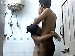 Couple Being Secretly Watched Showering