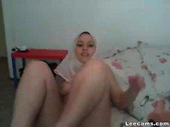 Teen arab girl masturbating with dildo