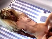 Blonde babe gives a hardcore fuck to close the deal