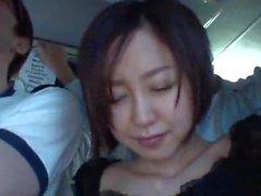 japanese teen on the train