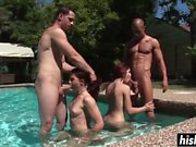 Stunning chicks get fucked by friends