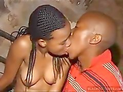 Amateur African couple in some nice cock sucking and pussy banging action