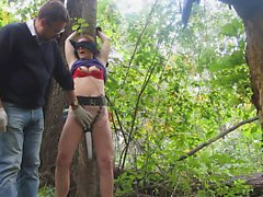 my slave X punished in the woods