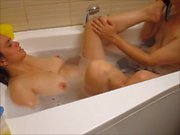 Kriss playing with dick in the tub (part 2 from 2)