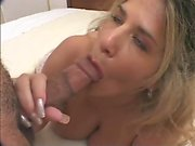 Lovely blonde with fake boobs fucked hardcore