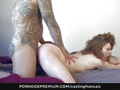 Hot Canadian curly babe loves rough sex
