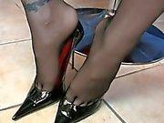 german Very Hot Pov Stockings Footjob