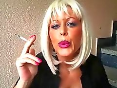 Blonde Milf Smoking