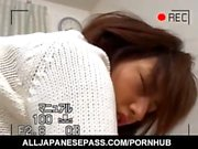 Hitomi Ikeno is stockings gets sucked cock in hairy slit doggy