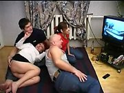 Real amateur hardcore group sex with two