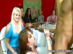 Crazy horny ladies suck stripper dick and enjoying a facial at the party