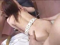 Busty Japanese slut enjoys an intense fucking and takes a h